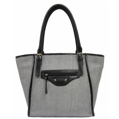 Bordeaux Shopper Silver/Black