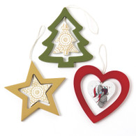 Set of 3 Me to You Bear Christmas Tree Decorations