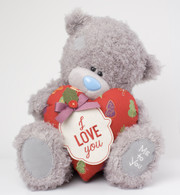 "12"" I Love You Padded Heart Me to You Bear"