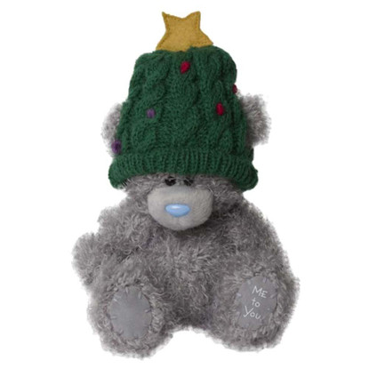 "5"" Wearing Christmas Tree Hat Me to You Bear"