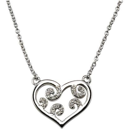 Crystalp Heart with Koru - Swarovski Elements