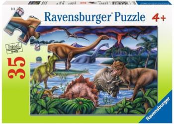 Ravensburger - Dinosaur Playground Puzzle 35pc RB08613-9