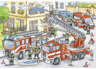 Ravensburger - Heroes in Action Puzzle 2x24pc RB07814-1 fire fihhters