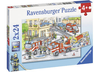 Ravensburger - Heroes in Action Puzzle 2x24pc RB07814-1