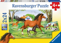 Ravensburger - World of Horses Puzzle 2x24pc RB08882-9