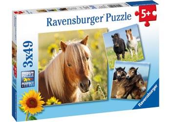 Ravensburger - Loving Horses Puzzle 3x49pc RB08011-3