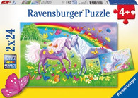 Ravensburger - Rainbow Horses Puzzle 2x24pc RB09193-5