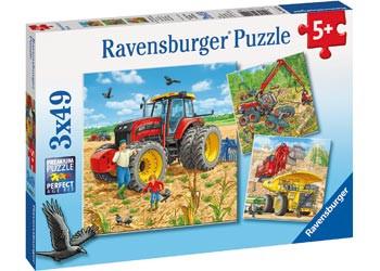 Ravensburger - Giant Vehicles Puzzle 3x49pc RB08012-0