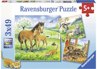 Ravensburger - Cuddle Time Puzzle 3x49pc RB08029-8