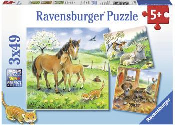 Ravensburger - Cuddle Time Puzzle 3x49pc RB08029-8