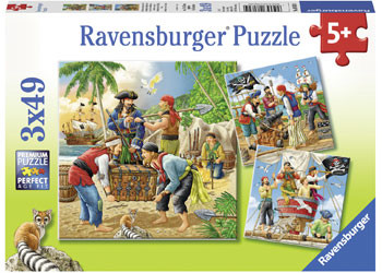 Ravensburger - Adventure on the High Seas Puzzle 3x49pc - RB08030-4