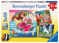 Ravensburger - Fantasy Friends 3x49pc Puzzle - RB09367-0