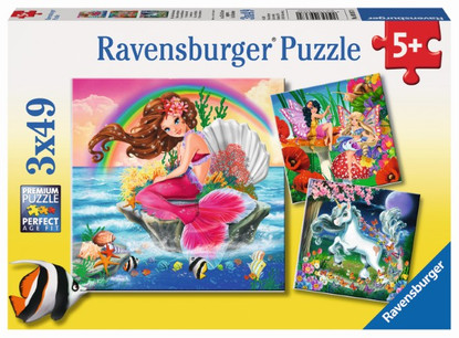 Ravensburger - Fantasy Friends 3x49pc Puzzle - RB09367-0