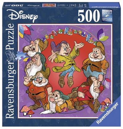 Ravensburger- Disney The Seven Dwarfs Puz 500 piece Square RB15202-5