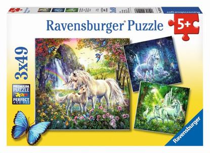 Ravensburger - Beautiful Unicorns Puzzle 3x49pc RB09291-8