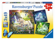 Ravensburger - Beautiful Unicorns Puzzle 3x49pc RB09291-8