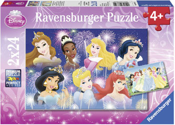 Ravensburger - Disney Princess Gathering Beautiful Princesses Puzzle 2x24pc - RB08872-0