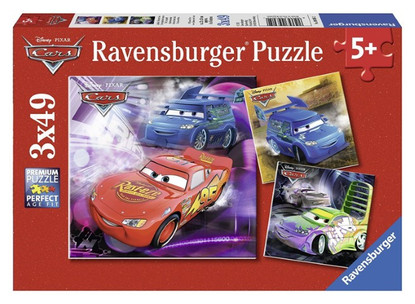 Ravensburger - Disney Cars On the Race Track Puzzle 3x49pc RB09305-2