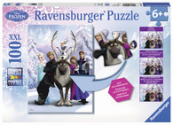 Ravensburger - Disney Frozen Difference Puzzle 100pc RB10557-1