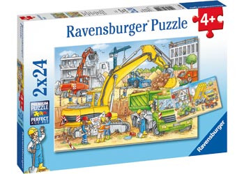 Ravensburger - Hard At Work Puzzle 2x24 pc RB07800-4