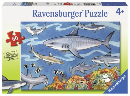 Ravensburger - Sea of Sharks Puzzle 60pc RB09628-2