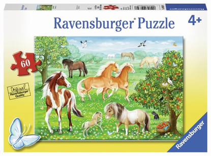 Ravensburger - Mustang Meadow Puzzle 60pc RB09639-8