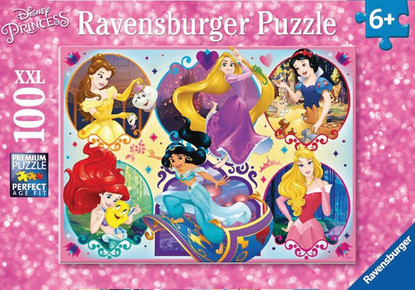 Ravensburger - Disney Princess 2 Puzzle - Be Strong Be You 100pc RB10796-4