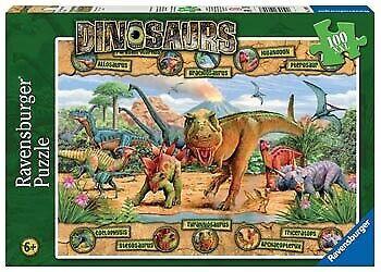 Ravensburger - Dinosaurs Puzzle 100 piece XXL RB10609-7 box