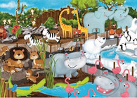 Ravensburger - Day at the Zoo 35pc Puzzle RB08778-5 display