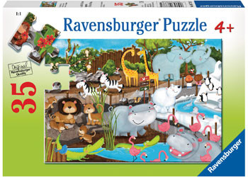 Ravensburger - Day at the Zoo 35pc Puzzle RB08778-5