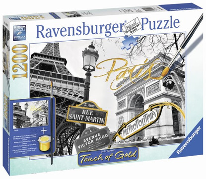 Ravensburger - Golden Paris Puzzle 1200pc Touch of Gold RB19935-8