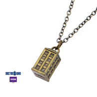 Dr Who Tardis Charm Necklace