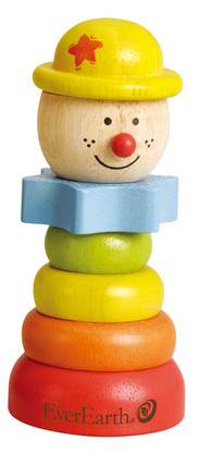 Pyramid Stacking Clown Yellow Hat EverEarth