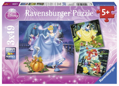 Ravensburger - Disney Snow White , Cinderella & Ariel Puzzle 3x49pc RB09339-7