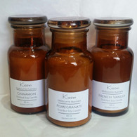 Amber Apothecary Bottle Soy Candles
