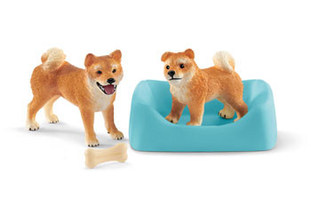 Schleich - Shiba Inu Mother and Puppy SC42479 (4055744029851)