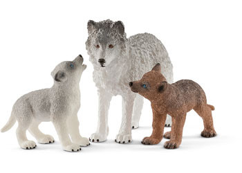 Schleich - Mother Wolf with Pups SC42472 (4055744029790)