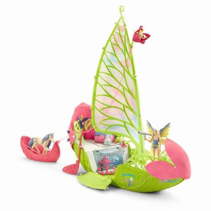 Schleich-Seras magic elf boat with unicorn foal SC42444