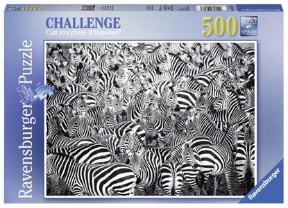 Ravensburger - Zebra Challenge Puzzle 500pc RB14807-3