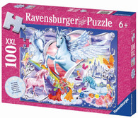 Ravensburger - Amazing Unicorns Glitter Puzzle 100pc RB13928-6