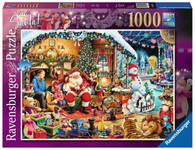 Ravensburger - Let's Visit Santa! Puzzle 1000pc RB15354-1