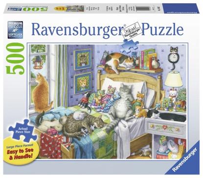 Ravensburger - Cat Nap Large Format Puzzle 500pc RB14966-7
