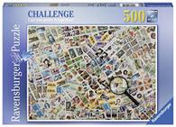 Ravensburger - Stamps Challenge Puzzle 500pc RB14805-9 box