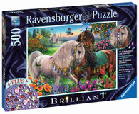 Ravensburger - Adorned Stallions Puzzle Brilliant 500pc RB14911-7