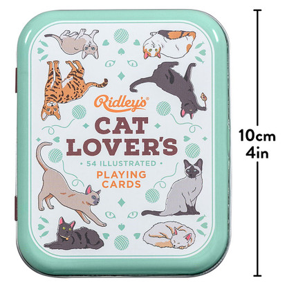 Cat Lovers Playing Cards in Tin