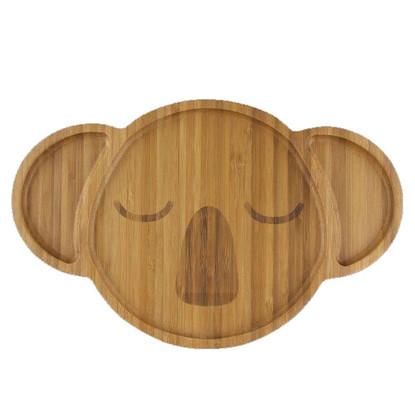 Karri the Koala bamboo plate front @kiozwi