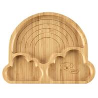 Emondo Kids- Rainbow Suction Bamboo Plate front @kiozwi