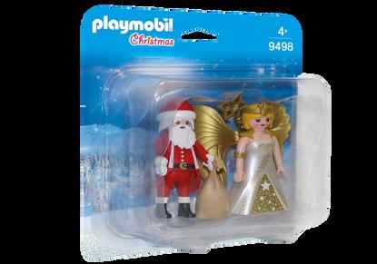Playmobil - Santa and Christmas Angel PMB9498