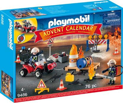 Playmobil - Advent Calendar - Construction Site Fire Rescue PMB9486 Box
