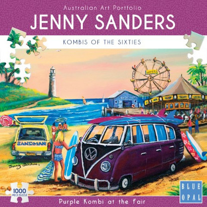 Blue Opal - Purple Kombi at the Fair 1000 piece Jenny Sanders BL02032 Box